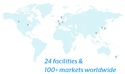 22 facilities and 100+ markets worldwide